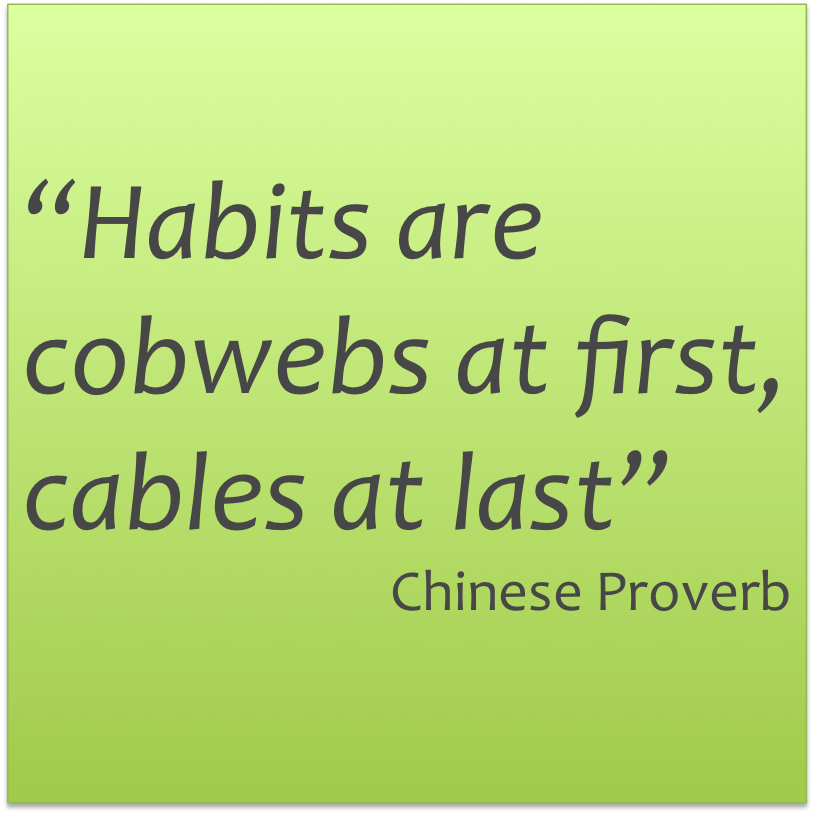 Habits are cobwebs